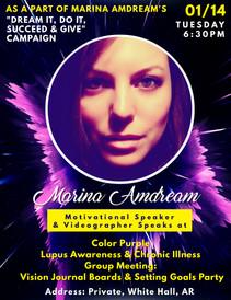 Speaking at Color Purple Lupus Awarness & Chronic Illness Meeting Meeting