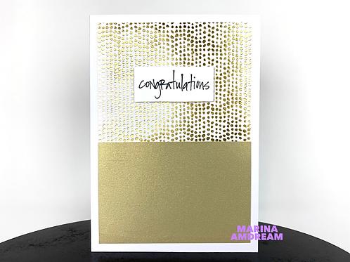 Pure Gold Congratulations Card