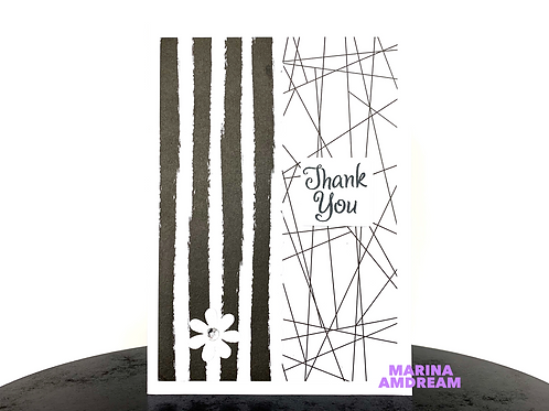 Flowers and Patterns Thank You Card