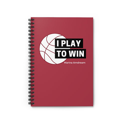 I Play To Win Spiral Notebook - Ruled Line