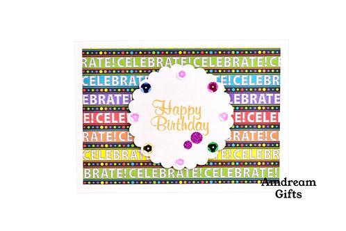 Celebrate Happy Birthday Card