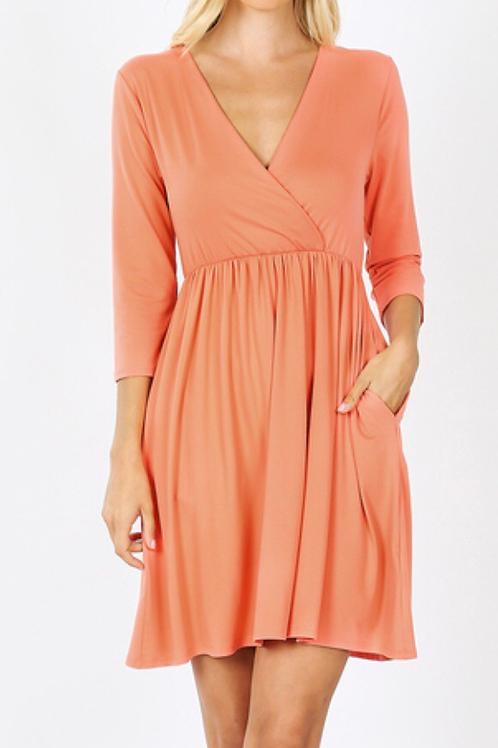 Spring Breeze - Surplice Dress