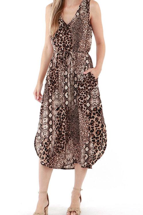 Animal Instinct - Maxi Dress