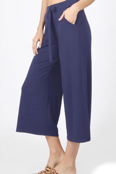 Keep Your Distance - Plus Sized Crop Pant