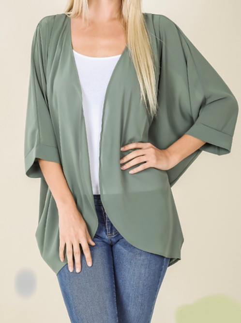 Don't Be Shady - Plus Sized Cardigan
