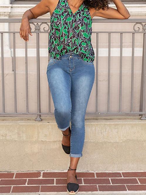 Take A Walk - Cuffed Ankle Jean