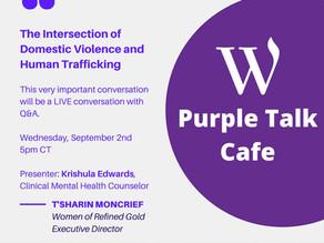 Catch this conversation: Purple Talk Cafe