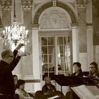 At Brussels Parliament in concert with the Royal Conservatory of Brussels Chamber Choir,dir. Charles Michiels
