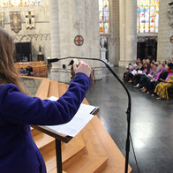 During her time in Brussels, Janelle worked under Xavier Deprez, director of music at the magnificent Cathédrale de Saints-Michel-et-Gudule. She sang there regularly and formed Voces Desuper, an ensemble performing at services, and especially at the Te Deum ceremony for the King and Queen of Belgium.