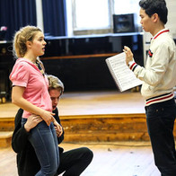 in rehearsal for Marriage of Figaro with Crispin Lord (count) & Ambrose Li (assistant director)