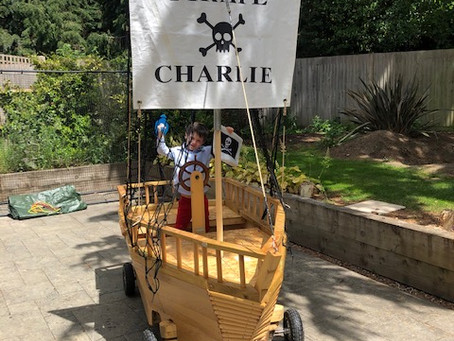 Quarantine Creation- Charlie the Pirate personalised sail