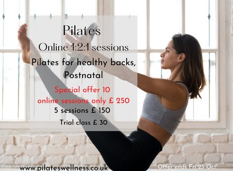 Tailored to you online Pilates classes   Limited Special Offer