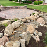 Pondless Waterfall and Patio