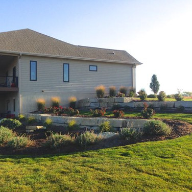 Limestone Walls and Landscaping