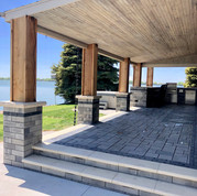 Paver Porch and Outdoor Kitchen