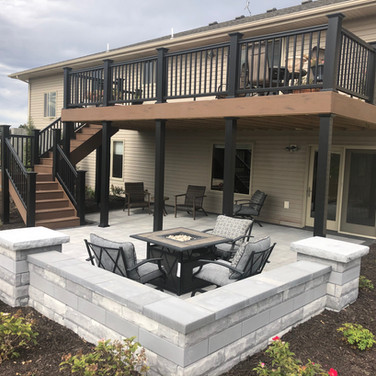 Patio and Seating Wall