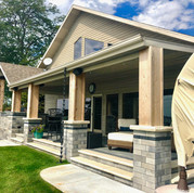 Paver Porch and Entertaining Area