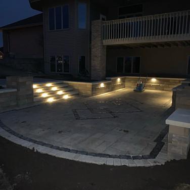 Steps and Wall Lighting