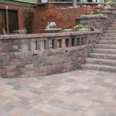 Grand Staircase, Patio and Walls