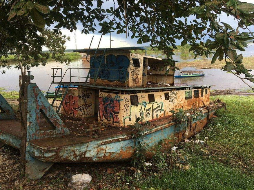 One of many abandoned steamboats from the Amazon's rubber boom (Iquitos, Peru)