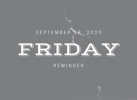 Friday 9/18/2020