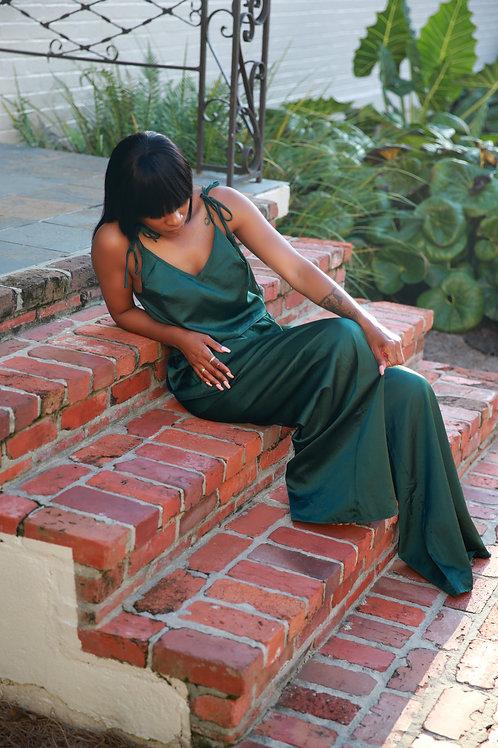 RENAE   Emerald Silk Pant Set