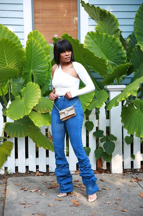 JOCLYN   Scrunch It Up Denim Jeans