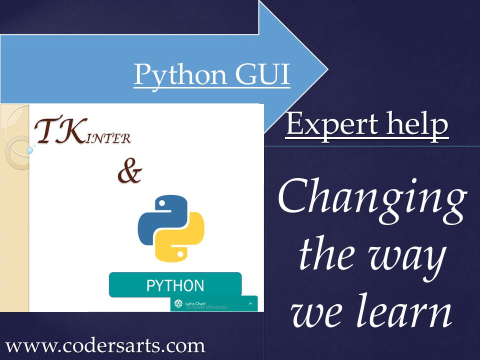 Python GUI expert help