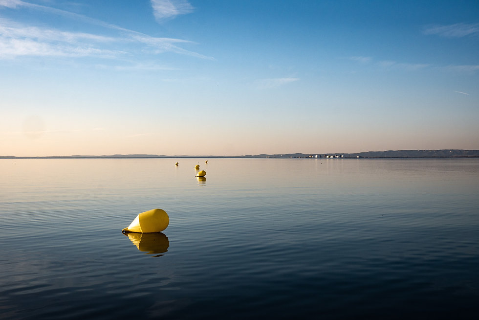 Inflatable Buoys on Water