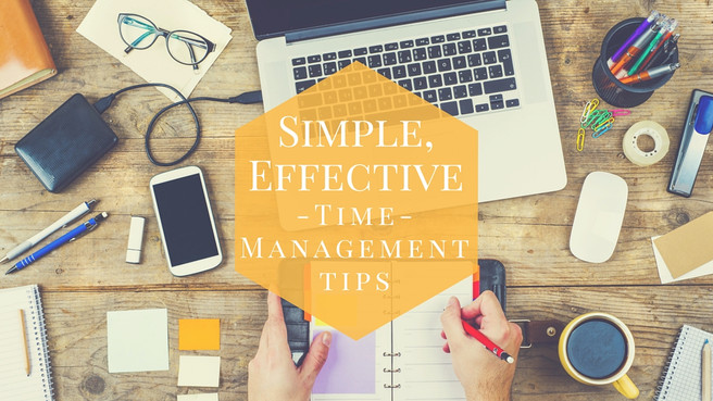 Simple, Effective Time Management Tips