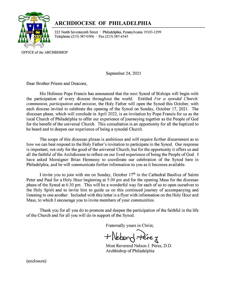 Opening Mass for the Diocese Phase of the Synod Letter, October 17, 2021.jpg