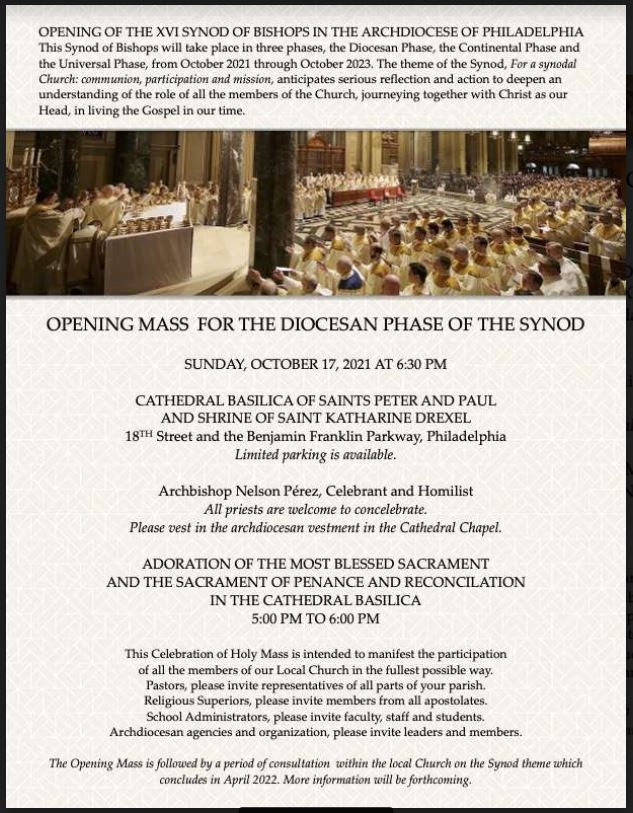 Opening Mass for the Diocese Phase of the Synod, October 17, 2021.JPG