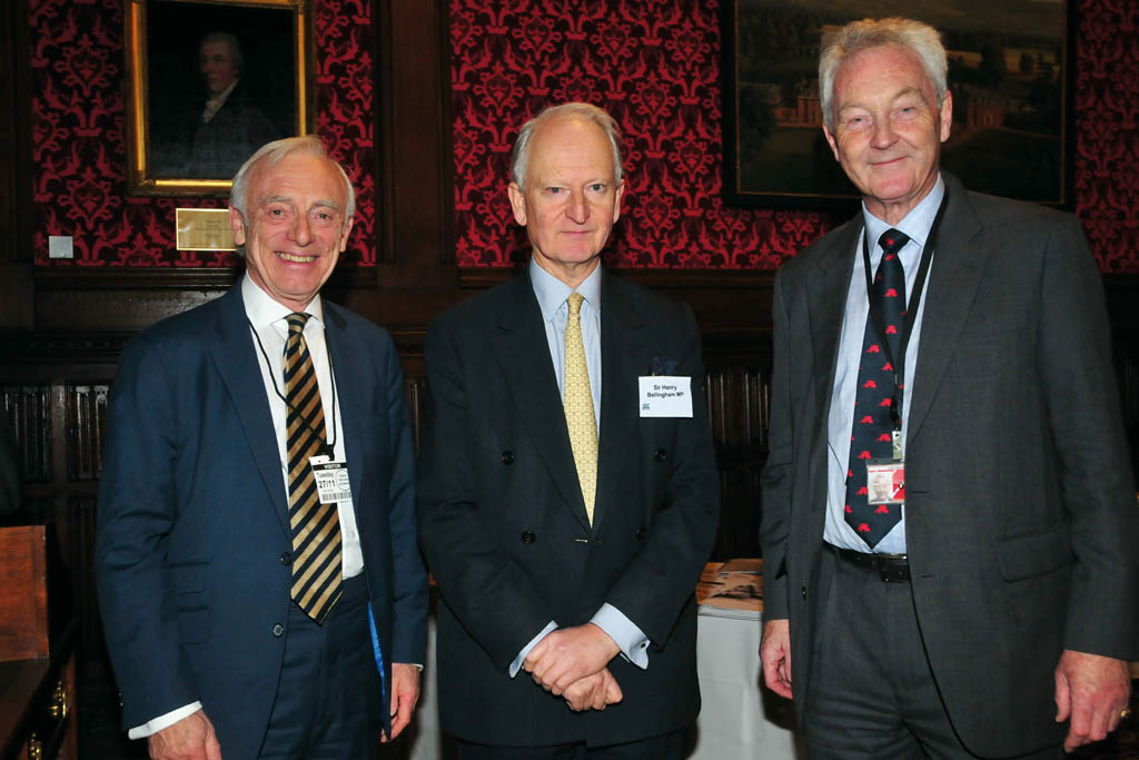 From left: Trevor Hursthouse OBE, Sir Henry Bellingham MP and Lord Aberdare