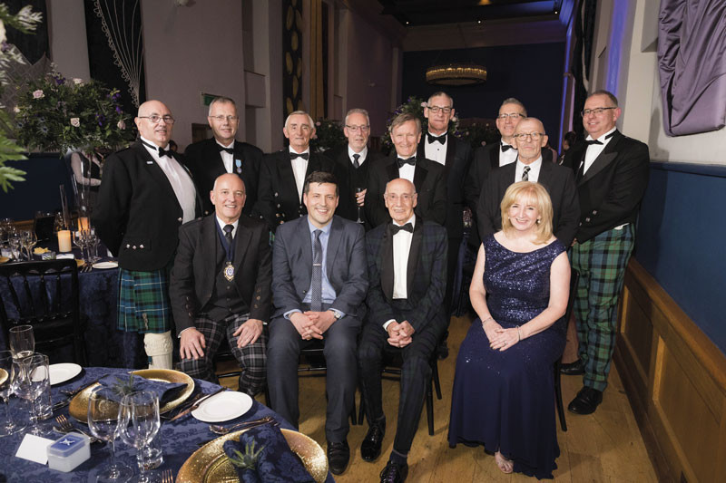 The SJIB Board with Jamie Hepburn at the  50th anniversary party