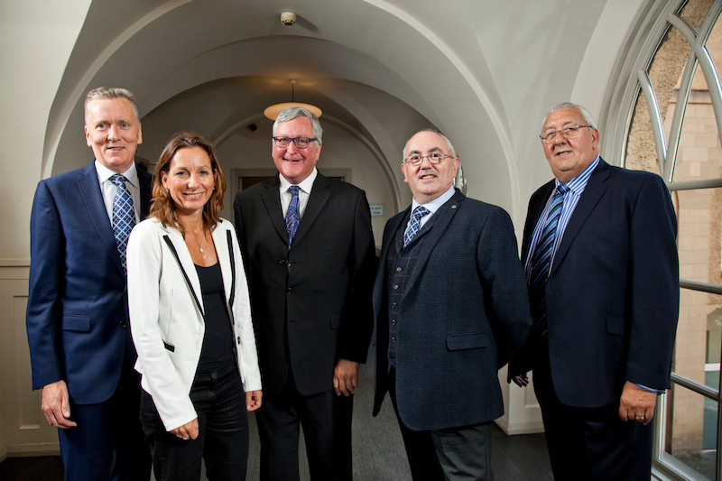 From left, SELECT MD Newell McGuiness, AIE General Secretary Evelyne Schellekens, Energy Minister Fergus Ewing, SELECT President Eric Rae and AIE President Allan Littler