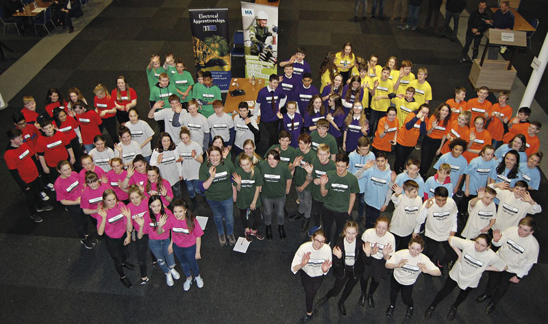 The CABEC competition gives school pupils a taste  of the construction industry