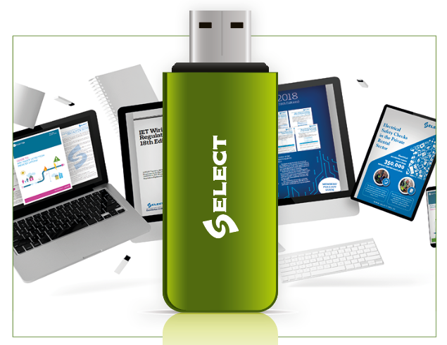 Graphic showing a sample memory stick