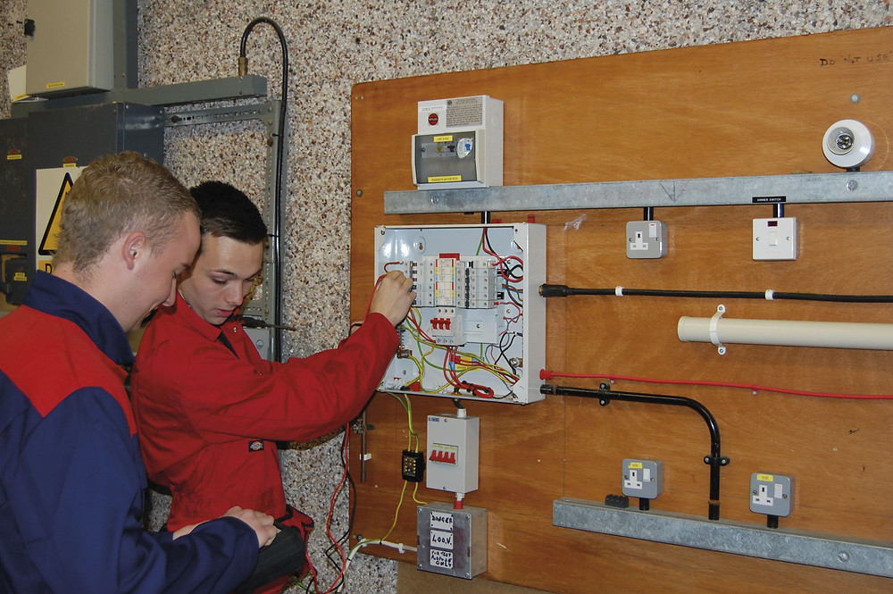 Preparing the next generation  of electricians is a vital task
