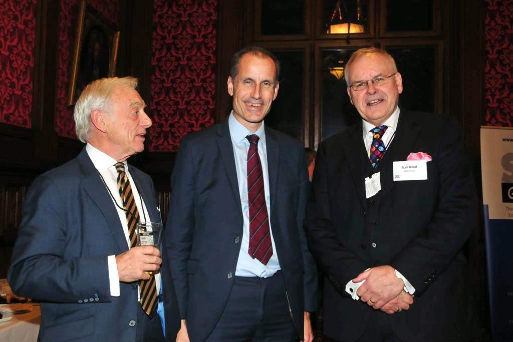 From left: Trevor Hursthouse OBE, Bill Esterson MP and SEC Group CEO Professor Rudi Klein