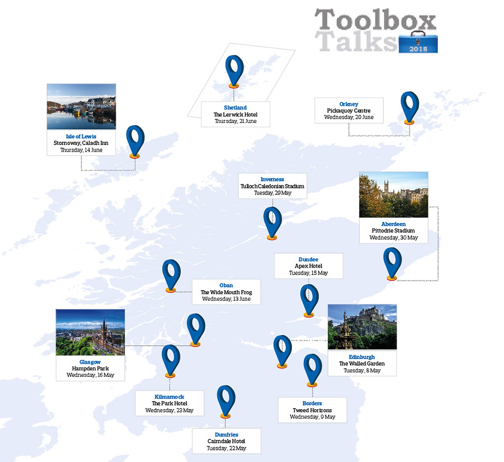 Toolbox Talks are back and taking place across the country (map)