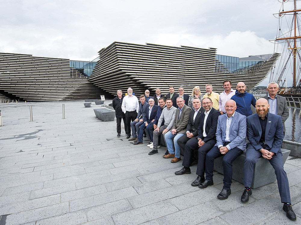 Central Board outside the new V&A Dundee