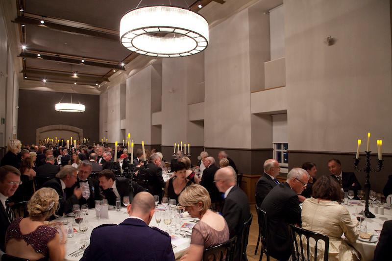 AIE/GCP delegates attend a black tie dinner at Edinburgh Castle