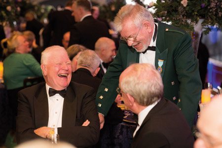 Archie Jay (standing) enjoys  a laugh with Hunter Fletcher