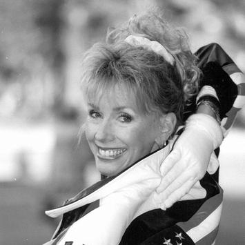 1990, Judi at the MYCAL Japan Bowl Halftime Show, Yokohama, Japan