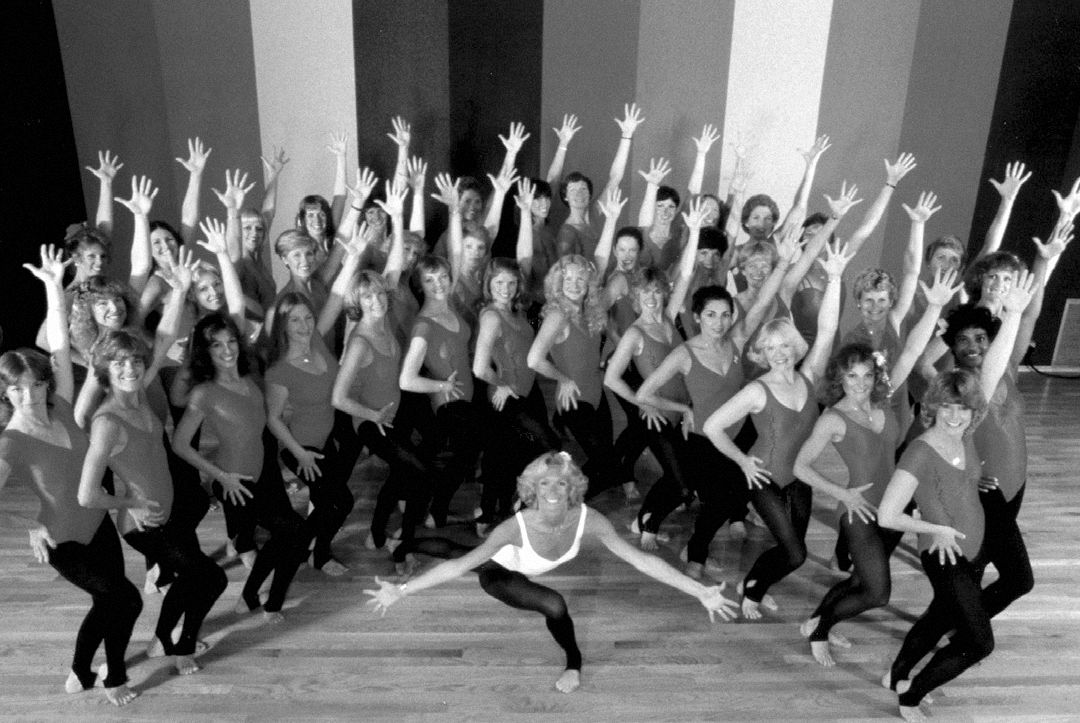 1979, The original thirty Jazzercise Instructors, Jazzercise Corporate Office Carlsbad, California