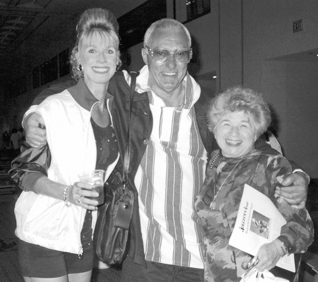 1993, Judi with her mentor, Gus Giordano, and Dr. Ruth Westheimer, JazzerJam, Orlando