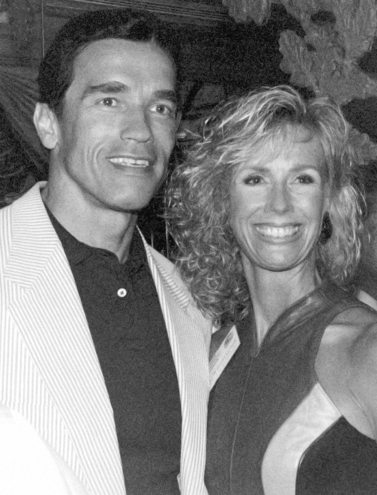 1992, Jazzercise Kids Get Fit program reaches 402,000 children worldwide and is presented to the President's Council on Physical Fitness and Sports with Arnold Schwarzenegger