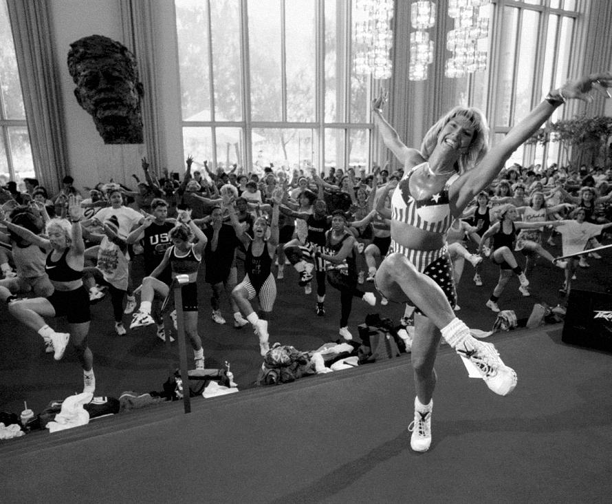 1996, Judi leads a class at the Jazz Dance World Congress at the Kennedy Center in Washington, D.C.