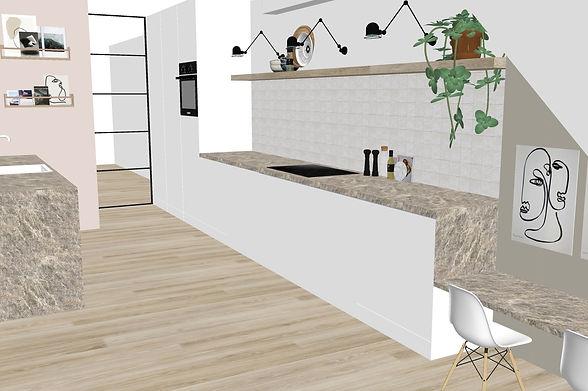 Visual interior design kitchen