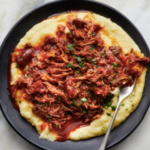 Braised Beef Ragu with Creamy Polenta